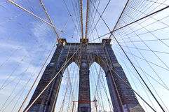 Бруклинский мост, зима - Нью-Йорк Стоковые Изображения