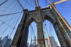 Бруклинский мост, зима - Нью-Йорк Стоковое Фото
