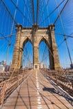 Бруклинский мост и Манхаттан Нью-Йорк США стоковые фотографии rf