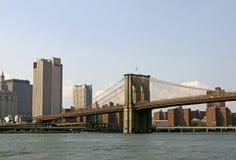 Бруклинский мост и Манхаттан, нью-йорк США Стоковые Изображения RF
