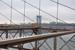Бруклинский мост Манхаттан, nowy jork Стоковые Изображения RF