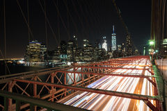 Бруклинский мост на часе пик Стоковое Изображение