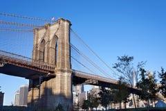 Бруклинский мост Нью-Йорк стоковые изображения
