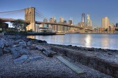 Бруклинский мост Нью-Йорк стоковая фотография