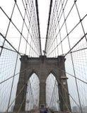 Бруклинский мост скрещивания Стоковое Изображение