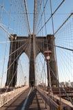 Бруклинский мост, NYC, взгляд портрета Стоковое Фото
