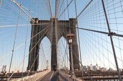 Бруклинский мост, NYC, стандартный взгляд Стоковая Фотография