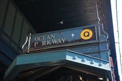Бруклин повысил метро Стоковое Изображение