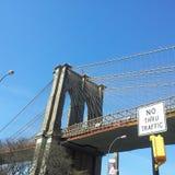 Бруклин смотря на Манхэттен Стоковые Фотографии RF