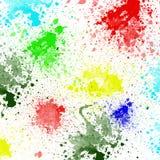 Брызгает красочных чернил на белой предпосылке Стоковое Изображение