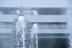 Брызгает от мухы фонтана стоковое изображение