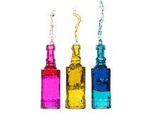 Брызгать бутылки Стоковые Изображения RF