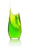 брызгать зеленого цвета коктеила Стоковые Изображения