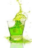 брызгать зеленого цвета коктеила Стоковое Фото