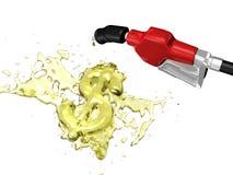 брызгать знака газа доллара Стоковое Изображение RF