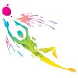 Брызгать краски - голкипер иллюстрация штока