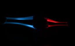 Брызгать кривую пузыря красочную Стоковое фото RF