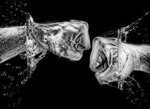 Брызгать кулаки Стоковое Фото