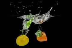 Брызгать плодоовощи Стоковое фото RF