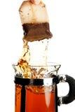 брызгать чай стоковое изображение rf