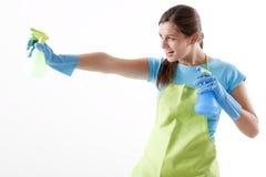 брызг домохозяйки дракой бутылки готовый к Стоковое Изображение RF