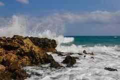 Брызг моря близко Стоковые Фотографии RF