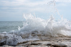 Брызг моря Стоковая Фотография