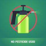 Брызг пестицида в иллюстрации вектора знака запрета бесплатная иллюстрация