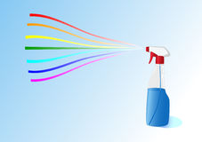 брызг радуги бутылки Стоковые Фото