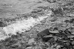 Брызг дунутый от волн Стоковое фото RF