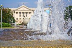 Брызг фонтана Стоковое Изображение