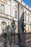 БРЮГГЕ, БЕЛЬГИЯ ЕВРОПА - 26-ОЕ СЕНТЯБРЯ: Современная статуя j Стоковое Изображение RF