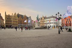 Брюгге, Бельгия, квадрат Grote Markt Стоковое Фото