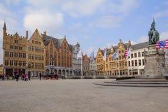 Брюгге, Бельгия, квадрат Grote Markt Стоковое фото RF