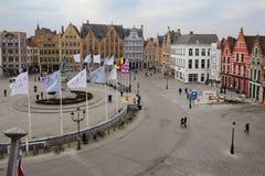 Брюгге, Бельгия, квадрат Grote Markt Стоковые Фотографии RF