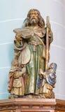 Брюгге - высекаенная статуя st Джейкоба апостола в церков st Jocobs (Jakobskerk) Стоковая Фотография