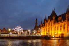 Брюгге на рождестве Стоковое Изображение