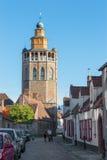 Брюгге - церковь Иерусалима от севера Стоковое Изображение