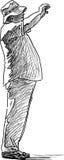 Брюзгливая стрельба человека Стоковые Фотографии RF
