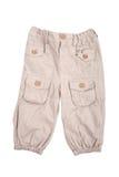 брюки бежа младенца стоковые фотографии rf