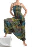 Брюки гарема Мульти-цвета с индийской картиной Стоковое Фото