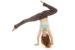 Брюки нашивки женщины танцуют ноги рук вниз вверх Стоковые Изображения RF