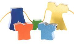 Брюки платья рубашки сбывания одежд на шнуре Стоковое Изображение RF