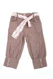 брюки пояса младенца бежевые стоковое изображение rf
