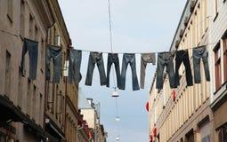 Брюки через улицу в Гетеборге стоковое изображение
