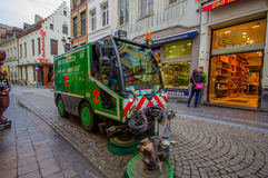 БРЮССЕЛЬ, БЕЛЬГИЯ - 11-ОЕ АВГУСТА 2015: Зеленая стреловидность Стоковая Фотография RF