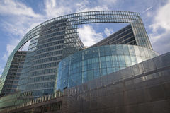 Брюссель - здание европейской комиссии Стоковые Фотографии RF