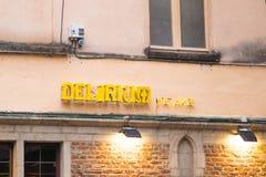 Брюссель/Belgium-01 02 19: Кафе бреда в Брюсселе стоковое изображение rf