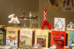 Брюссель, Бельгия: Витрина жизни Tintin стоковые изображения rf