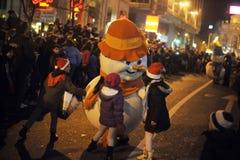Брюссель, Бельгия, парад рождества, декабрь 2013 стоковые фото